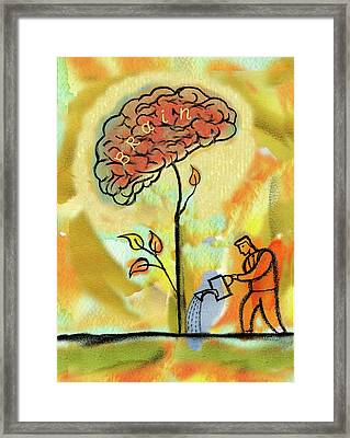 Brain Care Framed Print