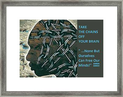Brain Chains Framed Print