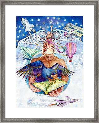 Brain Child Framed Print by Melinda Dare Benfield