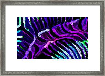 Brain Coral Abstract 3 In Purple Framed Print by ABeautifulSky Photography
