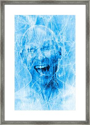 Brain Freeze Framed Print by George Mattei