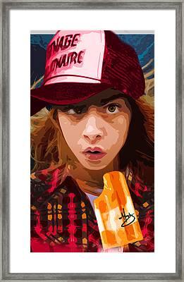 Brain Freeze Framed Print by Moxxy Simmons