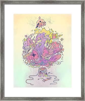 Brain Puke Framed Print by Thomas Hanchett