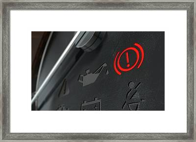 Brake Dashboard Light Framed Print