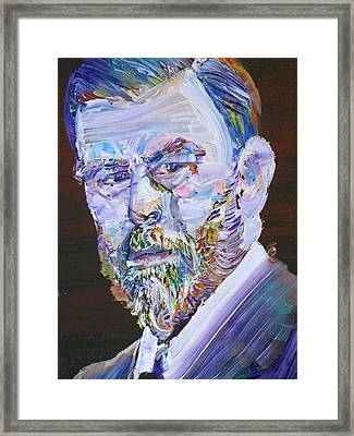 Framed Print featuring the painting Bram Stoker - Oil Portrait by Fabrizio Cassetta