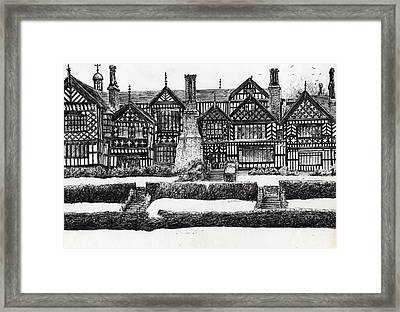 Bramall Hall Framed Print by Vincent Alexander Booth