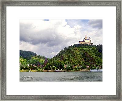 Framed Print featuring the photograph Brambach Germany by Joan  Minchak