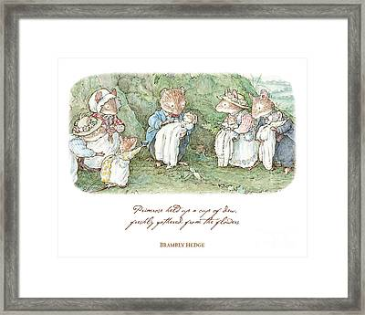 Brambly Hedge Naming Ceremony Framed Print by Brambly Hedge