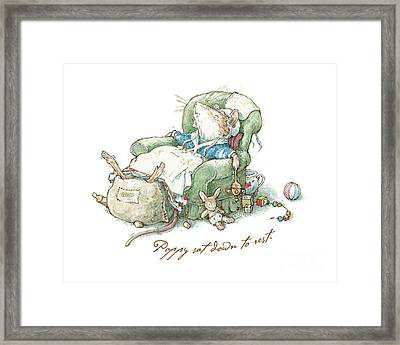 Brambly Hedge - Poppy Sat Down To Rest Framed Print by Brambly Hedge