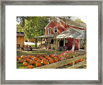 Bramhalls Country Store Fall 2015 Framed Print by Janice Drew