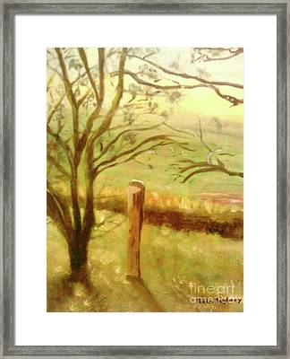 Brampton Valley Way Framed Print