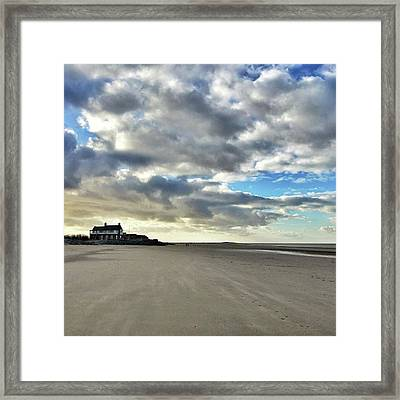 Brancaster Beach This Afternoon 9 Feb Framed Print