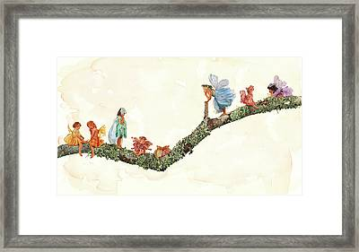 Branch Fairies Framed Print