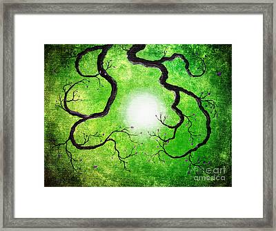 Branches Holding The Sun Framed Print by Laura Iverson