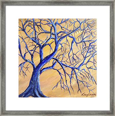 Branches Of Blue Framed Print