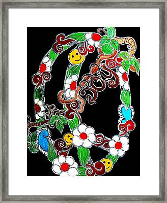 Branching Peace And Joy Framed Print