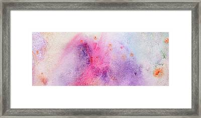 Brand New Morning - Bright Colorful Pastel Abstract Painting Framed Print by Modern Art Prints