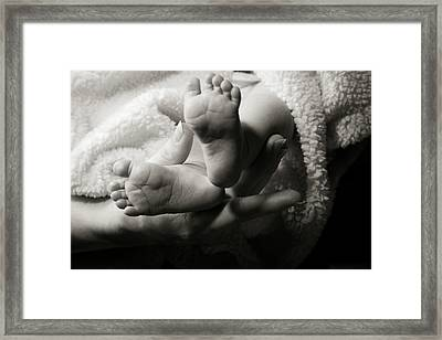 Brand New Toes Framed Print