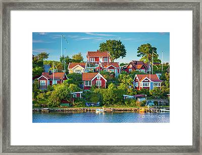 Brandaholm Cottages Framed Print