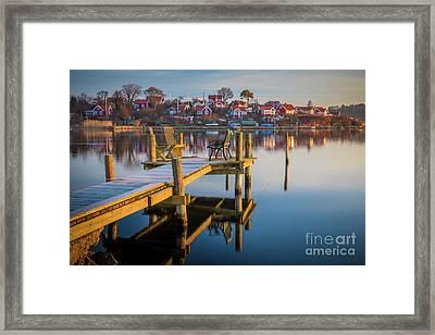 Brandaholm Dock Framed Print