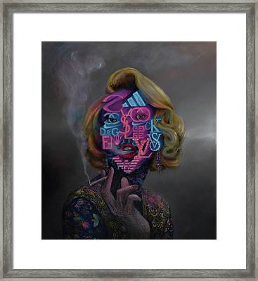 Framed Print featuring the painting Brandalism by Obie Platon