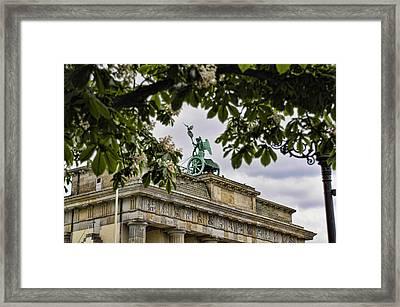 Brandenberg Gate Framed Print by Jon Berghoff