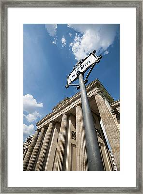 Brandenburg Gate Looking Up Framed Print by Nathan Wright
