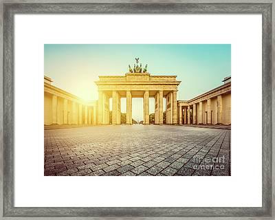 Brandenburg Gate Sunrise Framed Print