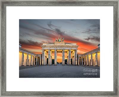 Brandenburg Gate Sunset Framed Print