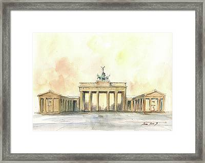 Brandenburger Tor, Berlin Framed Print
