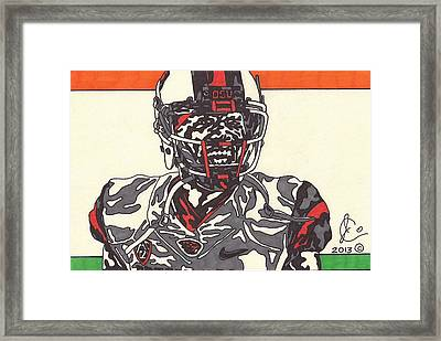 Brandin Cooks  Framed Print by Jeremiah Colley