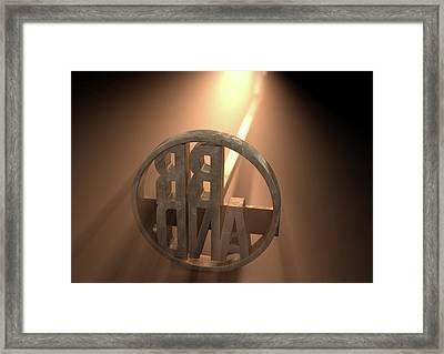 Branding Iron Brand Framed Print