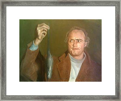 Brando And The Rat Framed Print