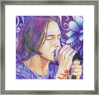 Brandon Boyd Framed Print by Joshua Morton