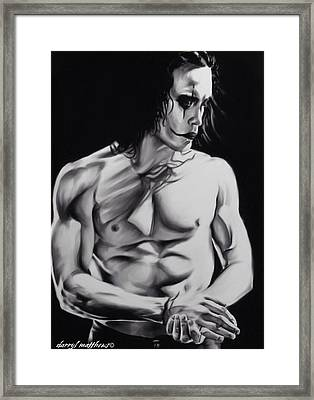 Brandon Lee As The  Crow. Framed Print by Darryl Matthews
