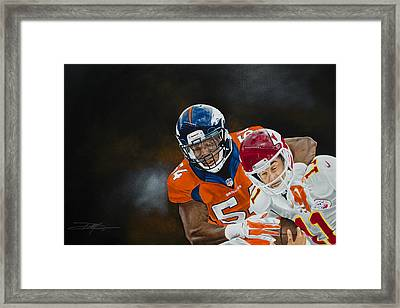 Brandon Marshall Framed Print by Don Medina
