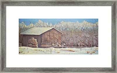 Framed Print featuring the painting Brandon's Horses by Dusty Bahnson
