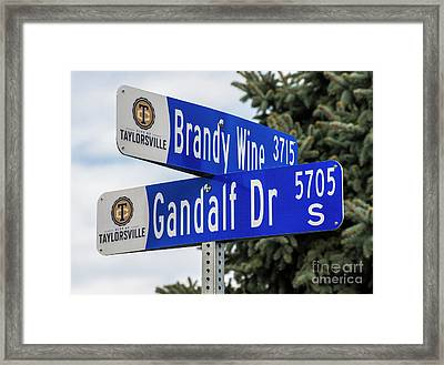 Brandywine And Gandalf Street Signs Framed Print by Gary Whitton