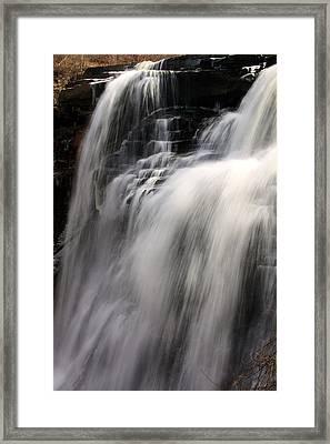 Brandywine Falls Framed Print by Amanda Kiplinger