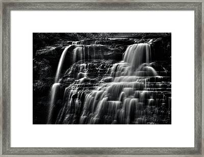 Brandywine Falls At Cuyahoga Valley National Park B W Framed Print