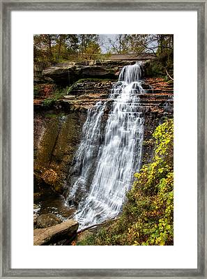 Brandywine Falls Framed Print by Tom Mc Nemar