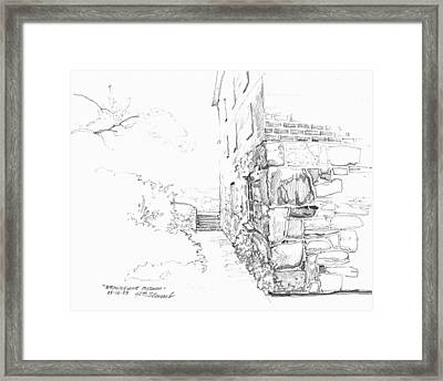 Framed Print featuring the drawing Brandywine Path by John Norman Stewart