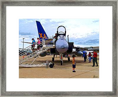 Branson Airport Airshow Framed Print by Julie Grace