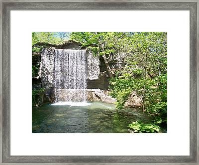 Branson Waterfall Framed Print by Julie Grace