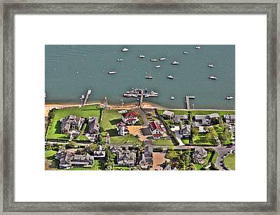 Brant Point Coast Guard Station Nantucket Harbor  Framed Print by Duncan Pearson
