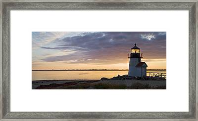 Brant Point Dawn - Nantucket Framed Print by Henry Krauzyk
