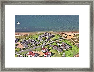 Brant Point House Nantucket Island Framed Print by Duncan Pearson
