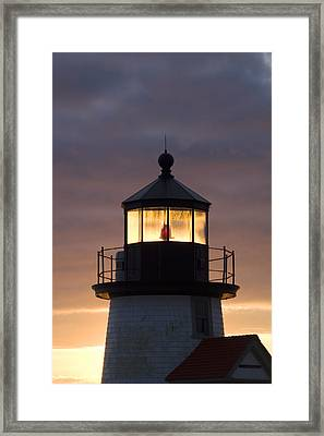 Brant Point Lanthorn - Nantucket Framed Print by Henry Krauzyk