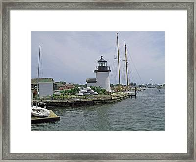 Brant Point Lighthouse Framed Print by Barbara McDevitt