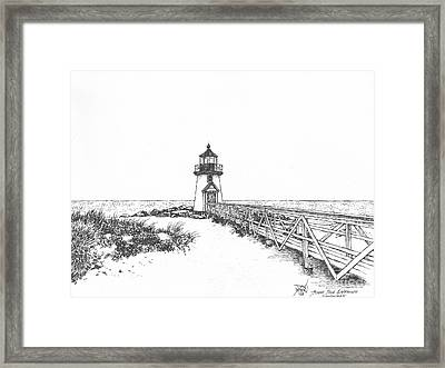 Brant Point Lighthouse Framed Print